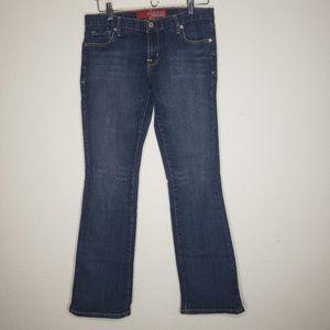 Guess  Medium Wash Mid-Rise Boot Cut Jeans